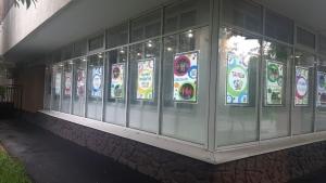 """Производство и монтаж световых рекламных панелей в витрины """"Культурного центра """"Алые паруса"""""""