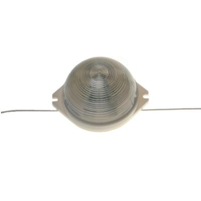 Стробоскоп 12-ти диодный круглый прозрачный накладной Белый холодный