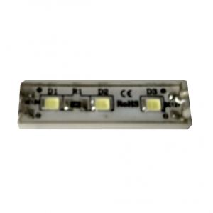 Светодиодный модуль 3 диода мини 2835 линза 0,48Вт, 12В, белый