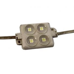 Светодиодный модуль 4 диода 5050 линза 0,96Вт, 12В, белый