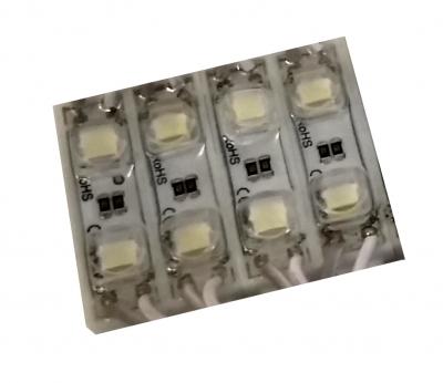 Светодиодный модуль led  2 диода 5050 линза 0,48Вт, 12В, белый