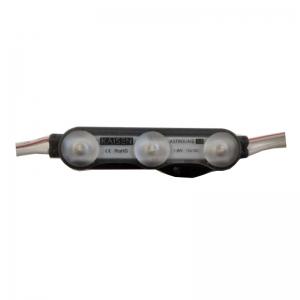 Светодиодный модуль КМ-А3-75К 3 диода КМ линза 1,8Вт, 12В, белый 7500К