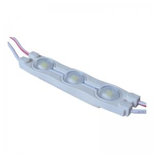 Ледмодуль 2835 LEDEX,3 диода линза 160 град,60 лм белый 0,72Вт 12В