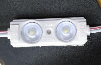 Модуль светодиодный на SMD2835 линза 150град 2-х диодный
