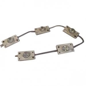 Светодиодный модуль торцевой 1 диод линза 3030 3,6Вт, 12В, белый 6000К
