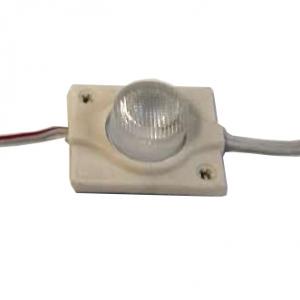 Светодиодный модуль торцевой 1 диод линза 3030 1,3Вт, 12В, белый