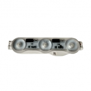 Светодиодный модуль AERO-3CW 3 диода 2835 линза 1,5Вт, 12В, белый 6500К