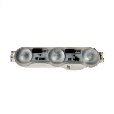 Модуль светодиодный 2835 led AERO-3CW 3 с линзой на 1,5Вт, 12В, белый 6500К