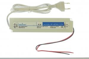 Блок питания 12В 60Вт с вилкой для световых панелей