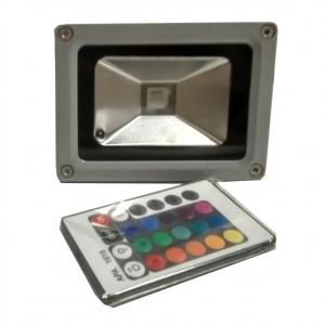 Светодиодный прожектор FL1-10W-IP65RGB, 10Вт, IP65, RGB, с пультом