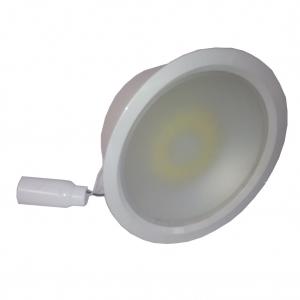 Светильник потолочный VIRIBRIGHT 8W, GU10, 220В, белый, диам 23 см.