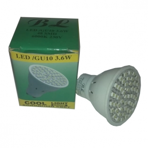 Светильник потолочный BOLUN GU10, 3,6W, 48SMD, белый 6000К