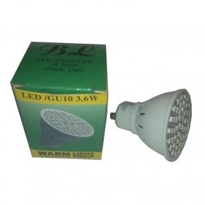 Светильник потолочный BOLUN GU10, 3,6W, 48SMD, белый 2700К