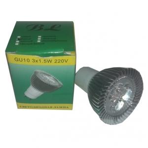 Светильник потолочный BOLUN GU10, 3x1,5W, белый 6000К