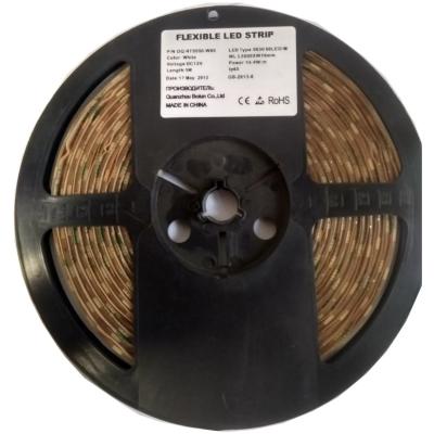 Светодиодная герметичная лента 300LED 5050 12В 14,4Вт/м, белая 6000К