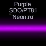 Неоновые трубки с люминофором Purple SDO/PT81 Neon.ru 10 мм