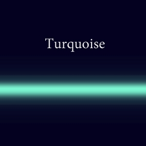Газовая стеклянная трубка с люминофором  Turquoise EGL 10мм