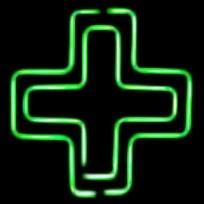 Неоновые вывески на заказ 500х500 Аптечный крест двойной