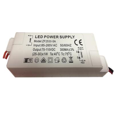 Светодиодный драйвер ZF2530-5A 25-30Вт, 300мА, IP20