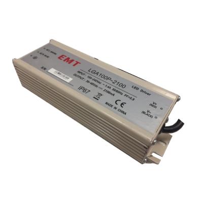 Светодиодный драйвер EMT LGA100P-2100 100W, 2100mA, IP67