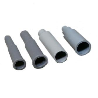 Изоляторы силиконовые Серые Открытые 13мм