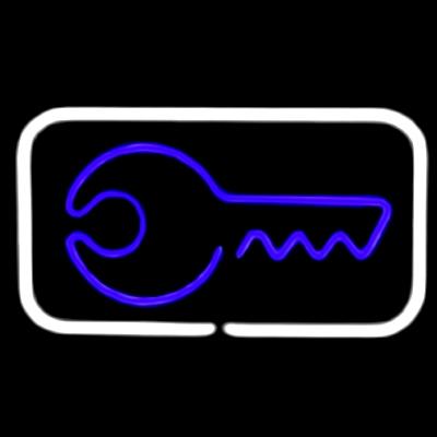 Неоновая вывеска на оргстекле в ассортименте Ключи