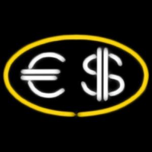 Неоновая вывеска на оргстекле в ассортименте Обмен Валюты