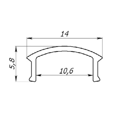 Алюминиевый профиль 12.16.12мм 2м ЛПС-12