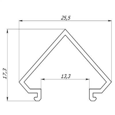 Рассеиватель РСУ к ЛСУ угловой 17.3х13.3