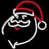 Неоновые вывески на заказ 500х500 Санта